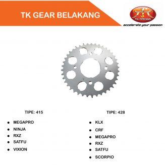 gear belakang tk racing